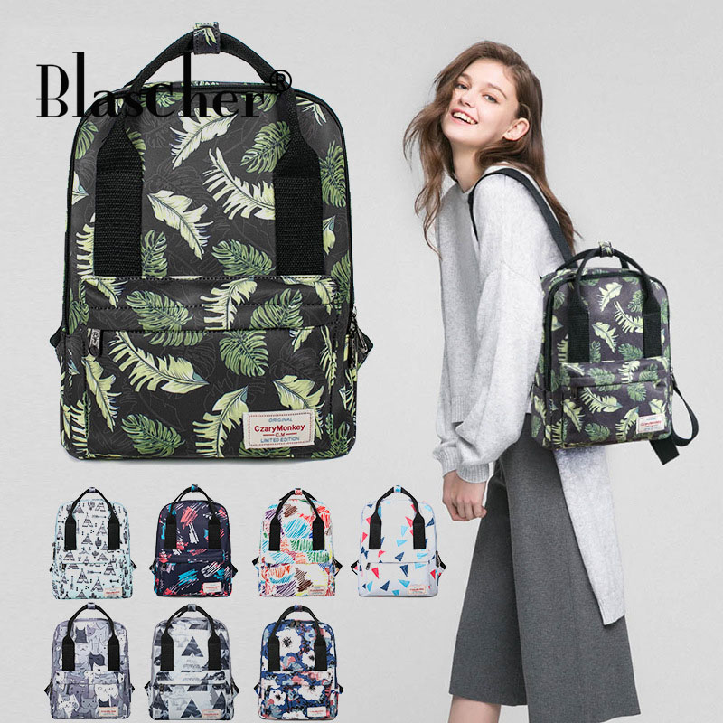 Blascher Winter Backpack for Women Printing Bookbag School Bags for Teenage Girls Quality Simple Travel Backpack