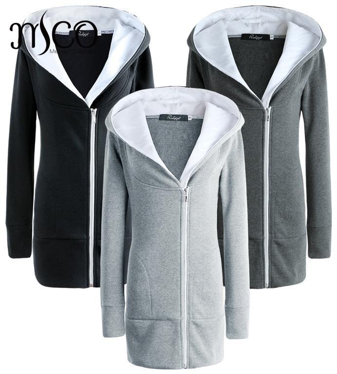 Winter Ladies Cropped Hoodies Cardigan Two Zipper Up Cotton Coat Women Slim Fit Hoody Jacket Korea Style Outerwear Abrigos Mujer