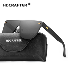 HDCRAFTER Popular Oversized Flat Top Sunglasses Men