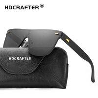 Hdcrafter شعبية المتضخم شقة الأعلى الرجال التجارية بدون مكبرة للمرأة القيادة نظارات الشمس oculos gafas