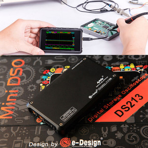 Image 3 - 4 ערוץ 100 MS/s מיני ננו DSO213 DS213 הדיגיטלי נייד אוסצילוסקופ דיגיטלי DSO 213 DS 213 עם X1 & x10 בדיקה