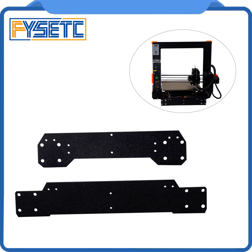 Cloned Original Prusa i3 MK3 Aluminum Alloy Front With Rear Plate Set For Reprap Prusa i3 3D Printer Parts
