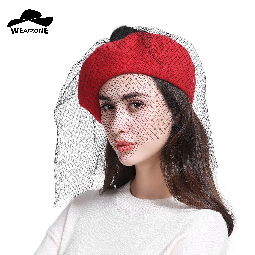 Winter Women Hat Vintage Berets Wool Caps Gorras Planas Hombre Hats Beret  Boinas Mujer Pillbox Hat ... 952fa842137