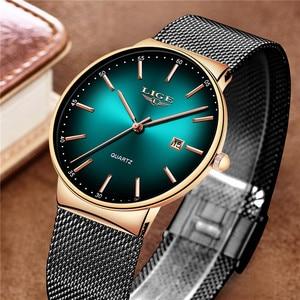 Image 2 - LIGEกีฬาวันที่บุรุษนาฬิกาแบรนด์หรูกันน้ำแฟชั่นนาฬิกาผู้ชายUltra Thin Dialนาฬิกาควอตซ์Relogio Masculino