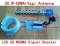 CONJUNTO COMPLETO 3g amplificador de señal de la pantalla LCD + 13dbi yagi! wcdma 2100 mhz 3g repetidor de la señal móvil, amplificador de señal de teléfono celular 3g