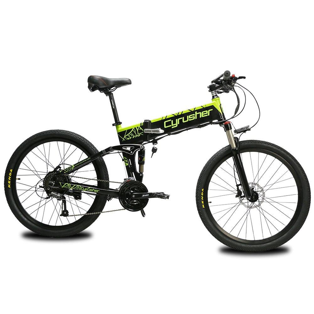 Cyrusher XF770 48 V 500 W vélo électrique pliant montagne vélo électrique tout suspendu electromobile avec compteur de vitesse
