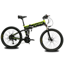 Cyrusher XF770 48V 500W Folding electric Bike mountain folding bicycle all suspension electromobile with speedometer