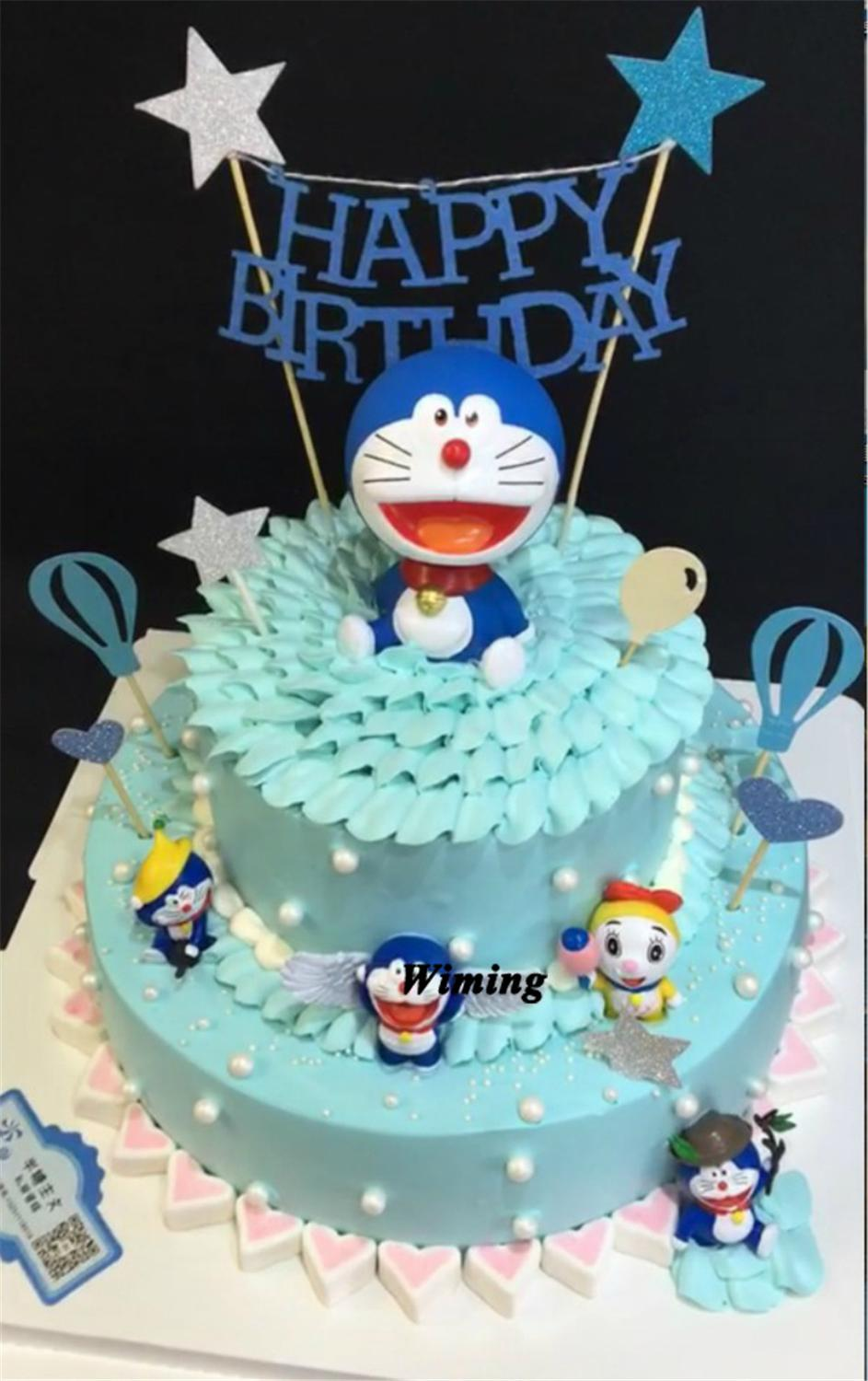 Outstanding Doraemon Birthday Cake Topper Boys Kids Toys Baby Children Personalised Birthday Cards Veneteletsinfo