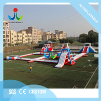 30X34M Giant Amusement Inflatable Floating Water Sea Park with Water Island