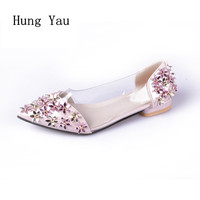Women Flats Casual Shoes 2017 Summer Sandals Pointed Toe Fashion Shallow Rivet Flower Flat Shoes Woman