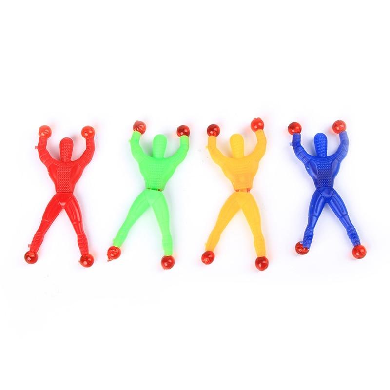 Funny Novelty Sticky Wall Climbing Flip Rolling Men Climber Children Kids Toy