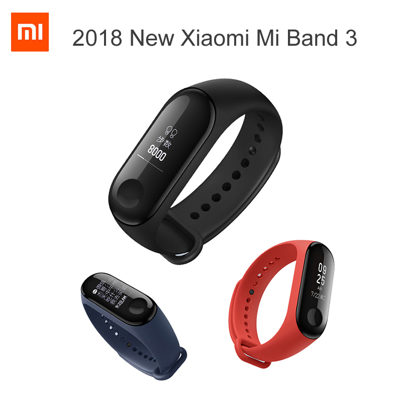 Original Xiaomi Mi Band 3 Miband 3 Fitness Tracker Heart Rate Monitor 0.78'' OLED Display Touchpad Bluetooth 4.2 For Android IOS in stock original xiaomi mi band 3 miband 3 smartband oled display touchpad heart rate monitor wristbands bracelet xiaomi mi 8