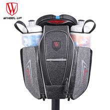 WHEEL UP Waterproof Bike Bag With Water Bottle Pocket Bicycle Rear Seat Tail Bag Reflective MTB Cycling saddle Bags New Arrival