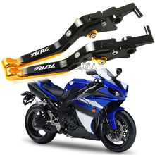 цена на For Yamaha YZF R6 YZFR6 YZF-R6 1999-2016 CNC Motorbike Accessories Motorcycle Brake Clutch Levers Handle Grips Foldable