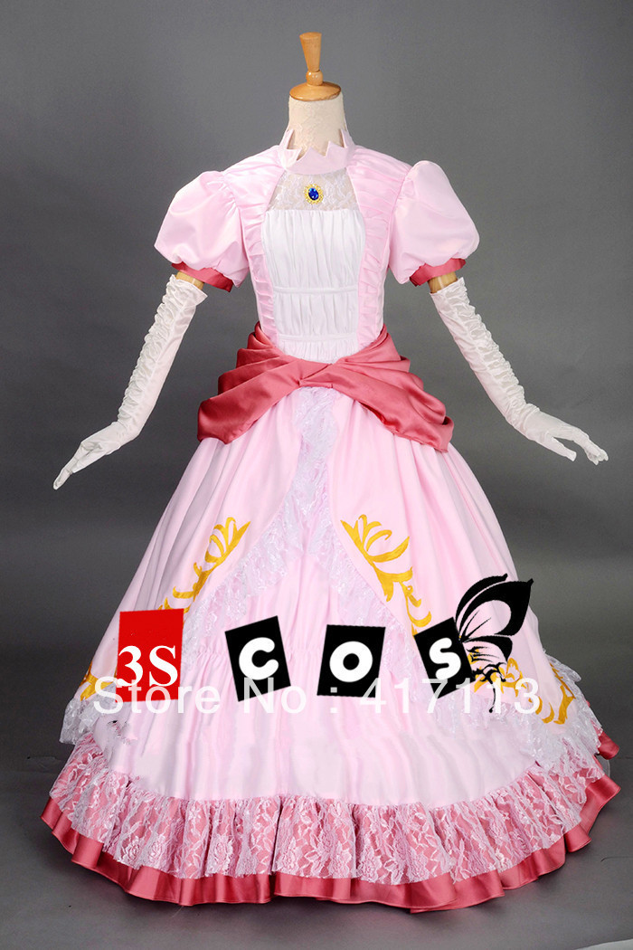 67c69c06081d5 سوبر ماريو الأميرة الخوخ أنيمي تأثيري حلي هالوين الوردي حزب اللباس مخصص