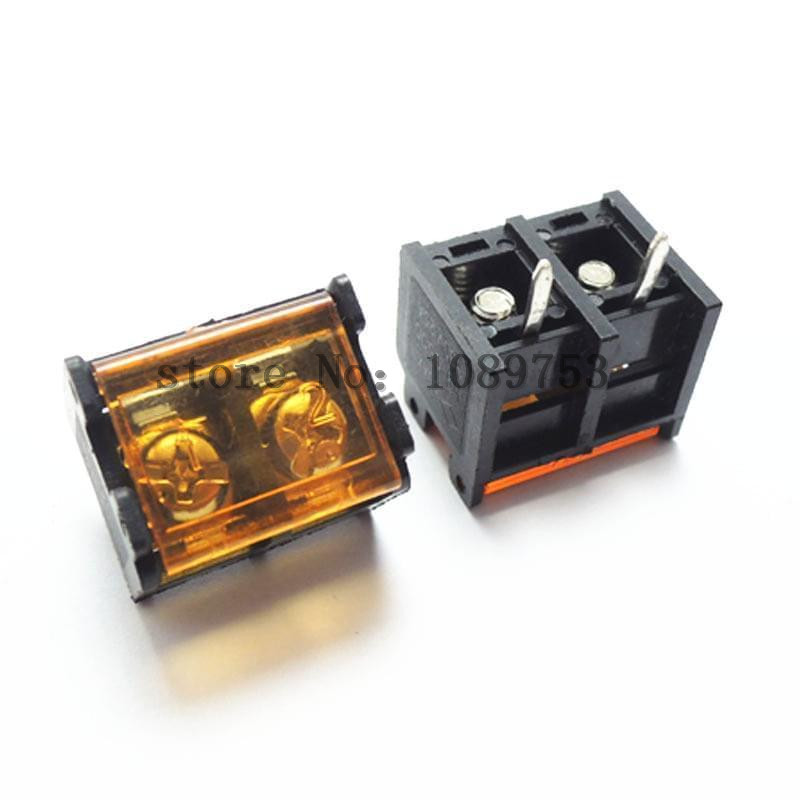 9.5mm Barrier HB-9500 50Pcs 3P Terminal Block Connector with Cover PCB Mount