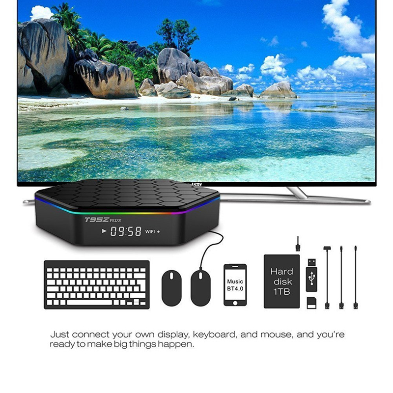 TV Box Android 7.1 Amlogic S912 qlt-core double bande WIFI 4K 2k 3 GB 32GB Smart vidéo BOX TV lecteur iptv abonnement Smart TV