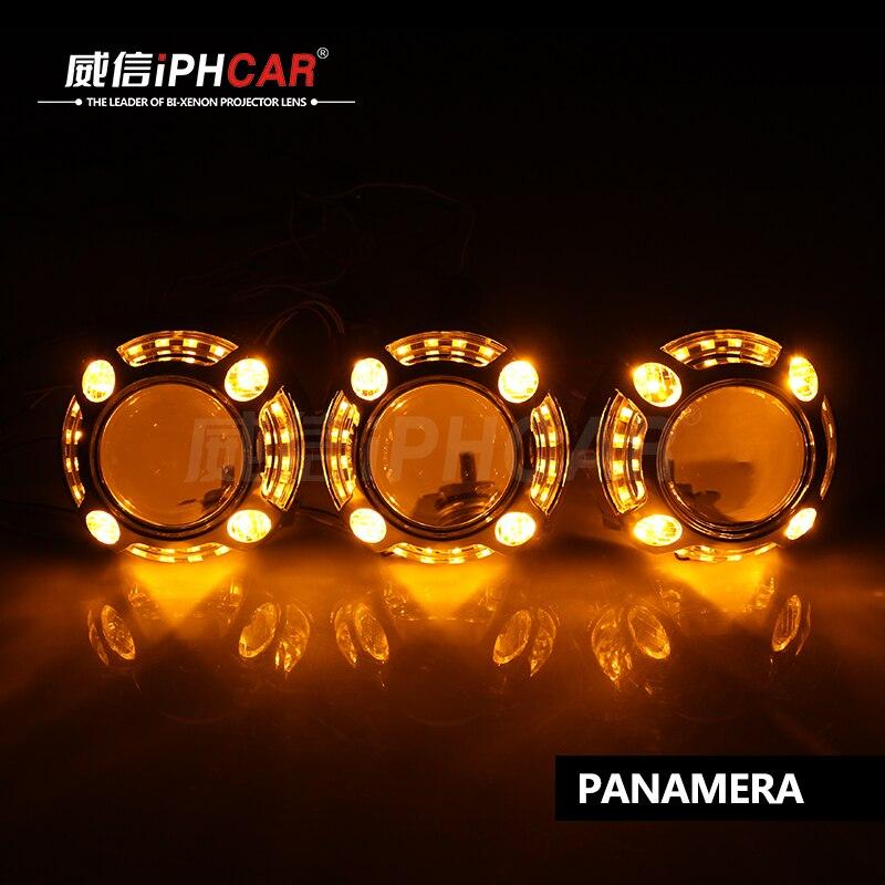 2 pièces 3 Pouces Universel Bi xénon CACHÉ Lentille De Projecteur H1 H4 H7 Xénon LED De Moto D'ampoule De Phare De Voiture