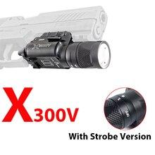 цены Tactical X300V Pistol Flashlight Strobe Weapon Light LED 500 Lumens Handgun Airsoft Hunting Shooting Rail Light Best