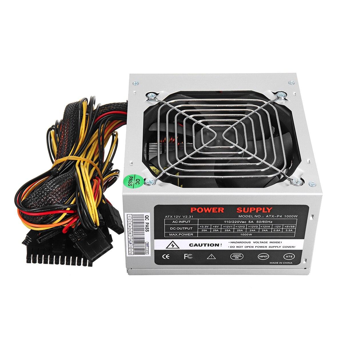 Max 1000W ATX alimentation ventilateur silencieux pour Intel AMD PC PC ordinateur mineur - 3