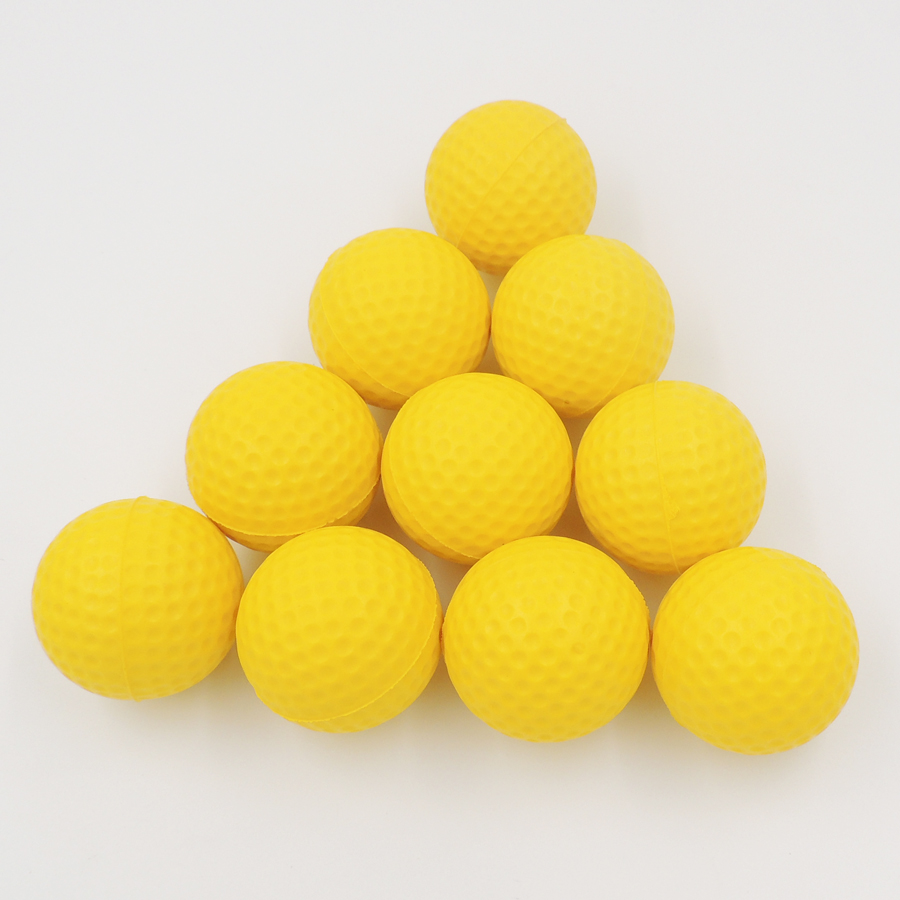 10pcs/pack Soft Indoor Practice PU Golf Balls Training Aid