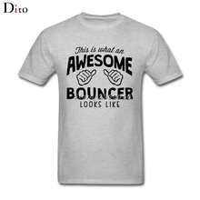 Awesome Bouncer Tees Shirt Men Male Fashion Short Sleeve Fashion Custom Big Size Team Tshirts