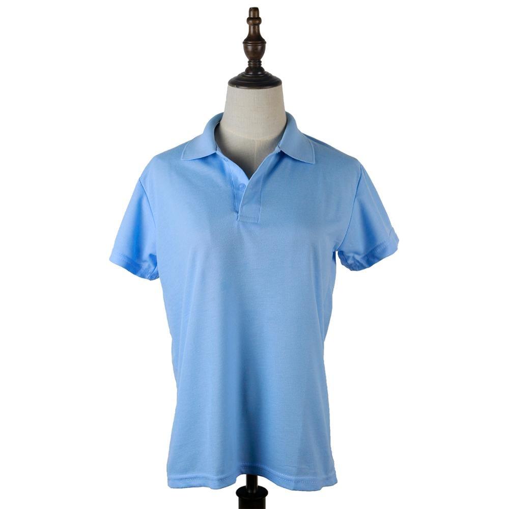 Polo Shirt Women Camisa Polo Shirt Mujer Shirt Lady Camisas Polo Plain Cotton Short-sleeve Eyelet Plain Camisa Polo Feminina