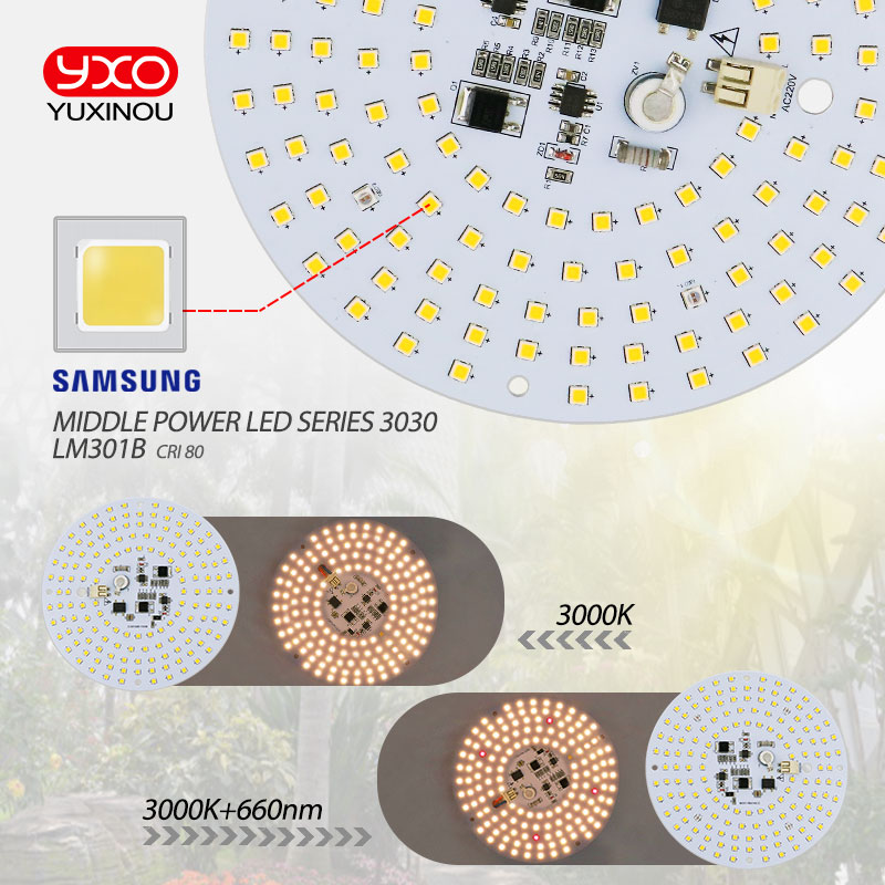 Image 5 - Driverless 100W AC Led Grow Light Quantum Board Full Spectrum Samsung LM301B 3000K 660nm DIY LED Plant Grow Light for Veg/Bloom-in Light Beads from Lights & Lighting