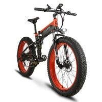 Cyrusher New Folding Electric Bike 500W 48V 10AH Fat Bike Full Suspension 7 Speeds 5 Setting