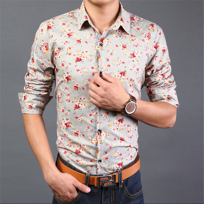 Online Shop Hot / 14 Colors/M-3XL/ Fashion Floral Shirts Long ...