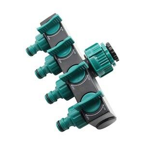 "Image 5 - 1/2"" 3/4"" 1"" Hose Splitters Irrigation Adapter 4 way Water Hose Connectors European standard Female Thread Tap Connectors 1 Pc"