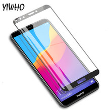 "9H Full Coverage Tempered Glass For Honor 7C AUM-L41 5.7"" 7C Pro For Huawei Honor 7A Pro AUM-AL29 7A 5.45"" Screen Protector Sklo(China)"