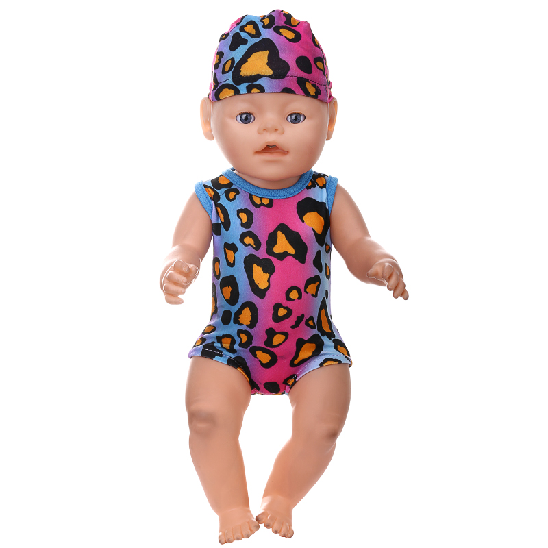 Doll Accessories Baby Born Doll Clothes Swimsuit Hat S