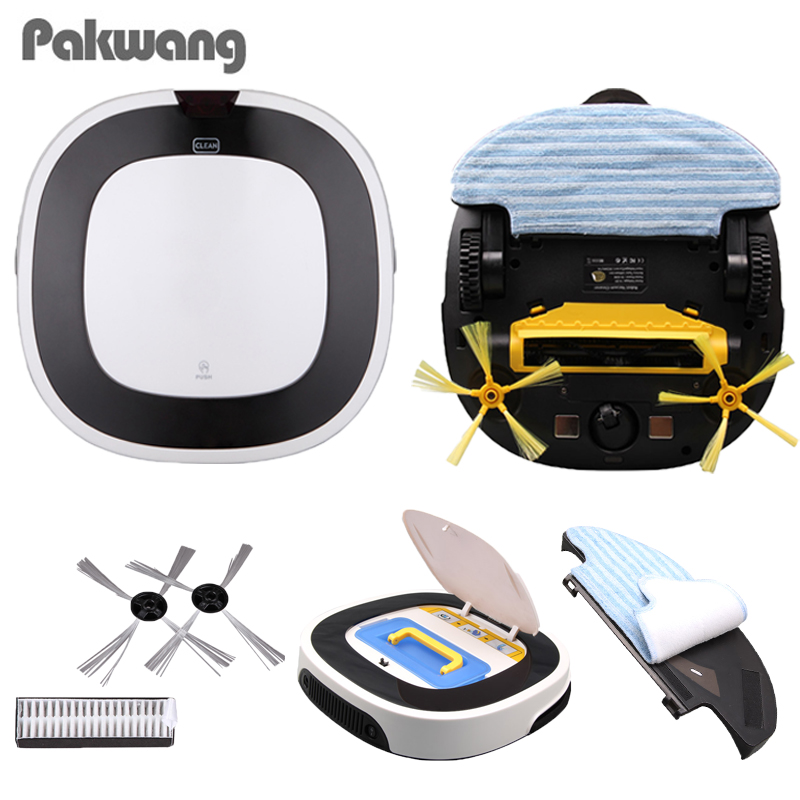 2018 Intelligent Robot Vacuum Cleaner D5501 Big Mop With Water Tank Vacuum Cleaner Ultra-Thin Body Wet And Dry Mop Robot Cleaner cleanmate robot vacuum cleaner qq6 mini cleaner ultrasonic app in wifi control dry wet mop water tank virtual wall