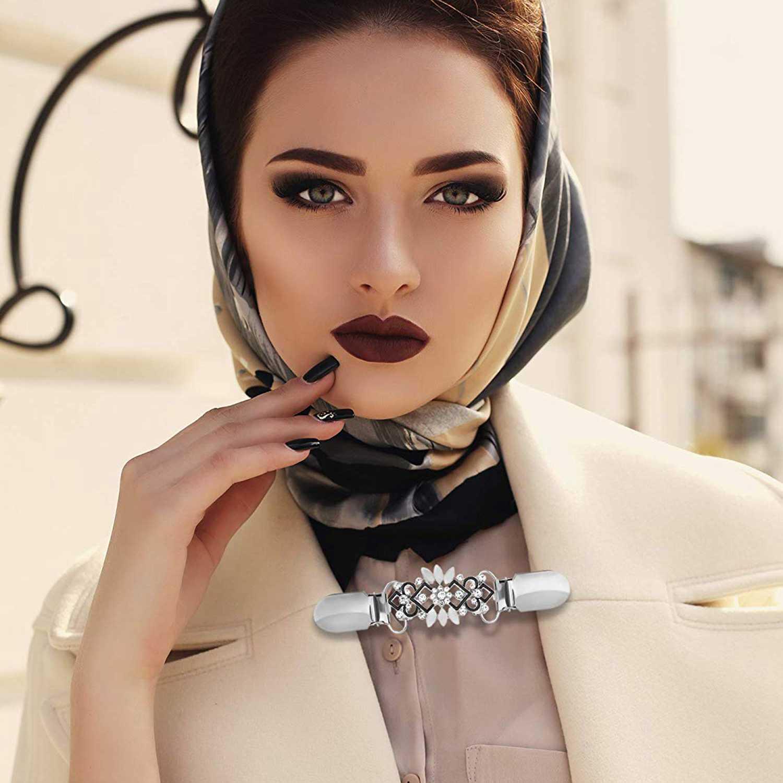 4 шт. винтажный свитер зажим для шали платья кардиган воротник зажим цветочный узор зажим для женщин девочек, 4 стиля