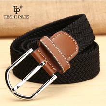 elastic belt knitted canvas belt decoration belt female pin buckle canvas strap women and man 2018