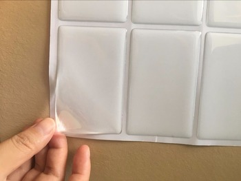 16 sztuk Rozmiar karty kredytowej 85 5x54mm wyczyść prostokąt naklejki epoxy tanie i dobre opinie