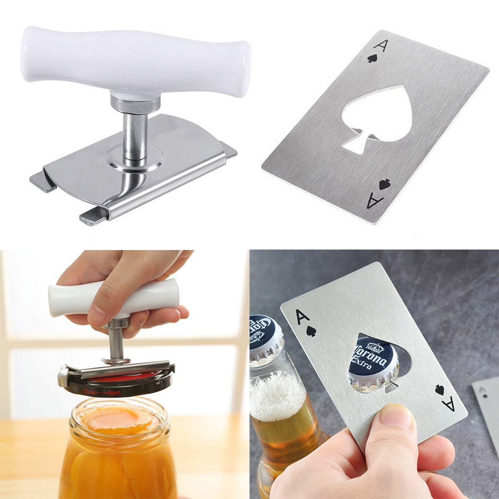 Bottle Opener 2019 Screw Cap Bottle Wrench Stainless Steel Power-saved Opener Can Bottle Tin Cap(China)