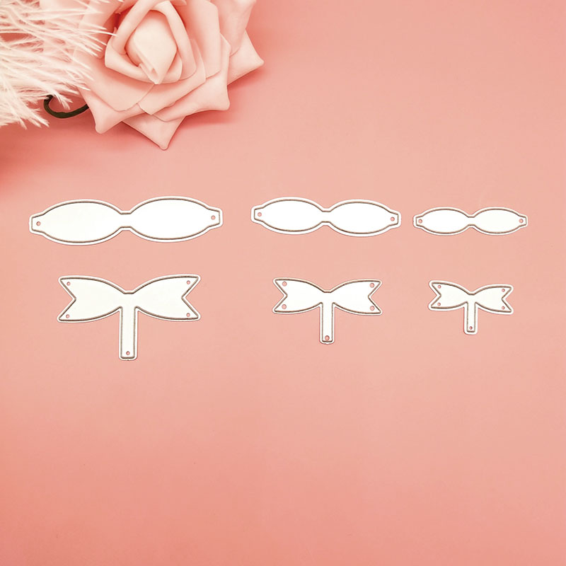 6Pcs//lot Bowknot Bows Metal Cutting Dies Stencils for DIY Scrapbooking Paper Car