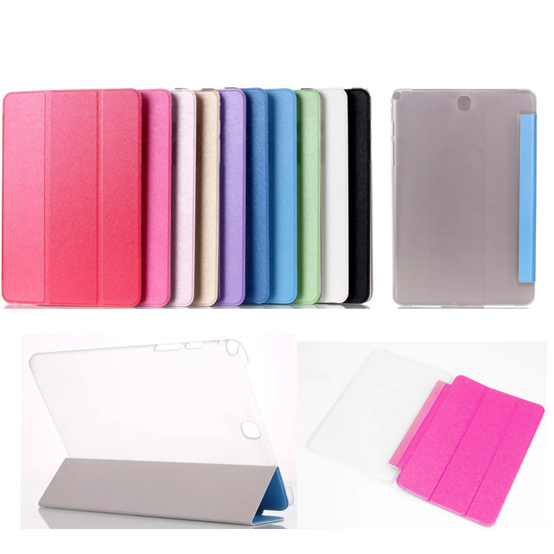 Silk Three Fold Flip PU Leather for Samsung Galaxy Tab A 8.0 T350 Case for Galaxy Tab A T355 Cover for Samsung Tab A 8.0 T350 luxury tablet case cover for samsung galaxy tab a 8 0 t350 t355 sm t355 pu leather flip case wallet card stand cover with holder