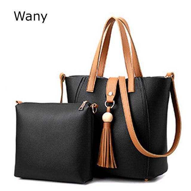 6f6656d642b7 Women s Handbag 2 pcs set large new female bag mother tote bag shoulder bags  lady bucket fashion Women Handbag High qualiity
