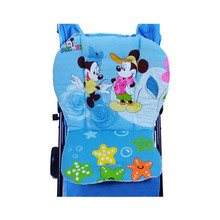 Blue Mickey & Minnie Mouse Cotton Baby Stroller Cushion Child Car Seat Pad,Infant Buggy Pram Cart Accessories For Kids ST007