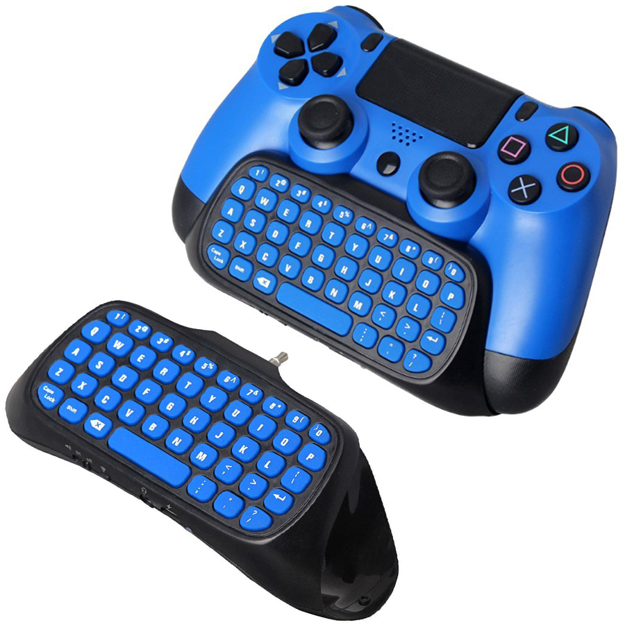 PS4/Slim/Pro Mutilfunction 2 in 1 Bluetooth Mini 2.4G Wireless Chatpad Message Keyboard for Sony Playstation 4 Controller