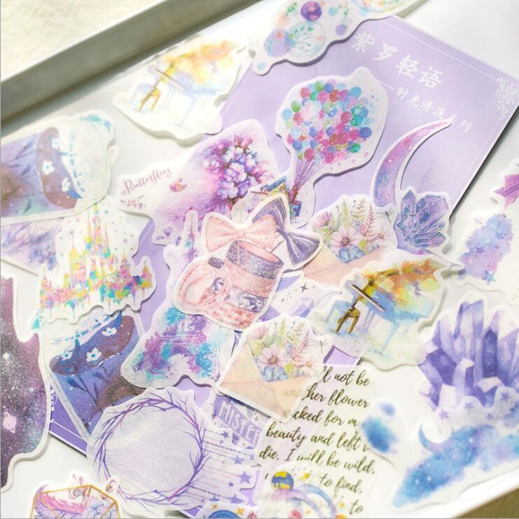 60 Stks/pak Vintage Bloemen Scrapbooking Planner Totem Stickers Thuis Decoratieve Tape Papier Sticker Briefpapier Meisjes Verjaardagscadeau Hoge Veiligheid