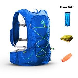 Image 2 - AONIJIE في الهواء الطلق تشغيل حقيبة ظهر هيدراتية حقيبة مع زجاجات مياه للمشي سباق ماراثون درب
