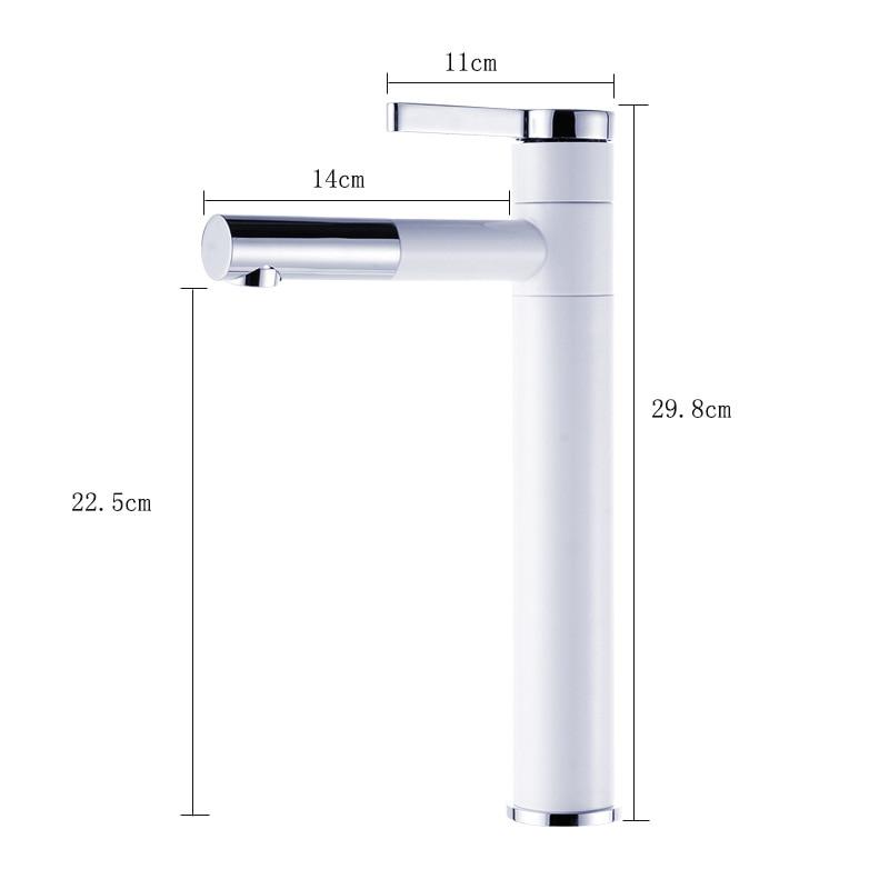 Universal Antique Basin Faucet Brass Paint White Faucet for Kitchen Single Handle Hole classic Deck Mount Mixer Water Taps - 4