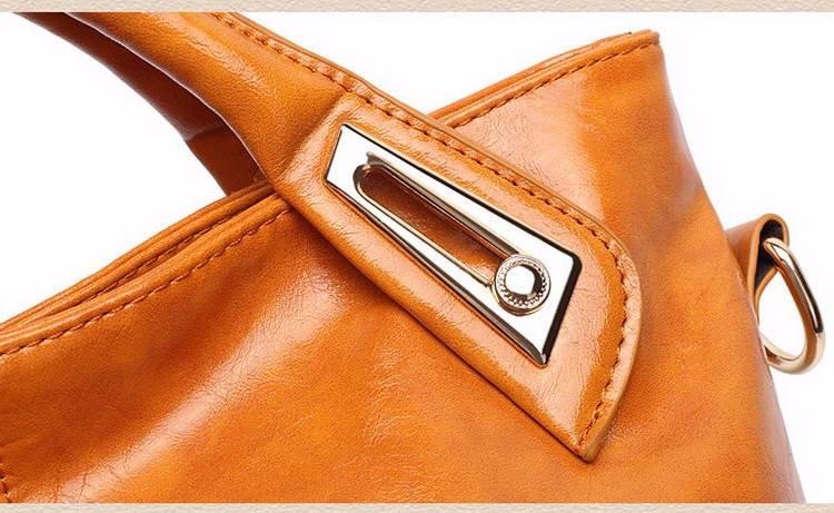 Women Oil Wax Leather Designer Handbags High Quality Shoulder Bags Ladies Handbags Fashion brand PU leather women bags WLHB1398 19