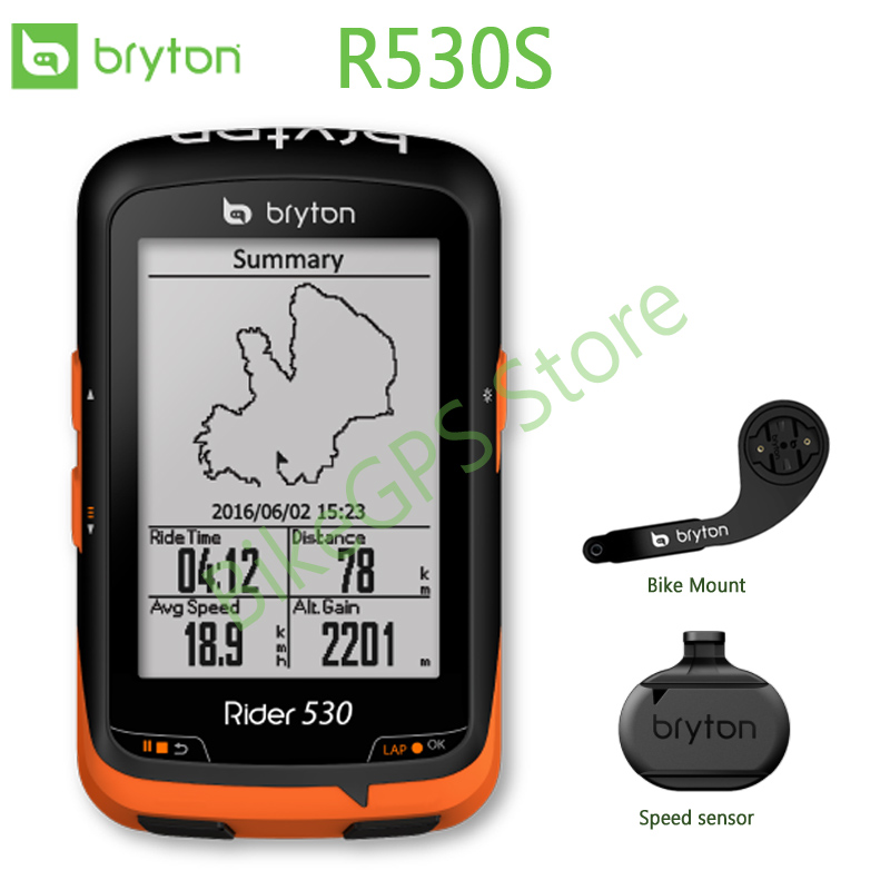 Rider 530 S GPS Bike Computer Speedometer Cycling navigation Extension Mount with ANT+ Speed sensor GARMIN Edge200 520 820