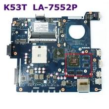 K53T QBL60 LA-7552P с HD6380/7670 м 1 ГБ плата для ASUS K53TA X53T K53TK материнская плата для ноутбука REV 1,0 100% тестирование работы