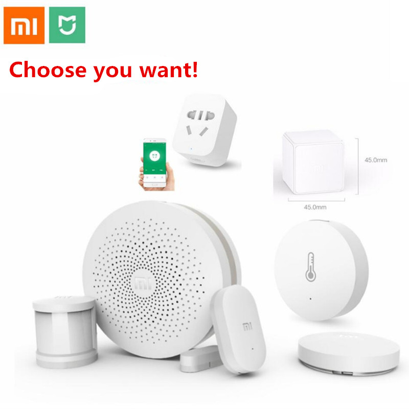 Xiaomi Smart Home Kit Mijia Gateway Door Window Human Body Sensor Temperature Humidity Sensor Wireless Switch Zigbee Socket Cube(China)